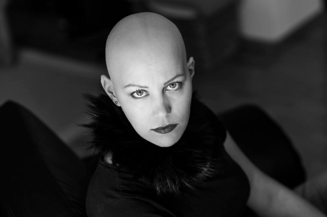 Harald Peter, Christine Raab, Aschaffenburg, schwarz-weiß, Glatze, Frau, Fotoshooting, Make-Up Artist, (6)