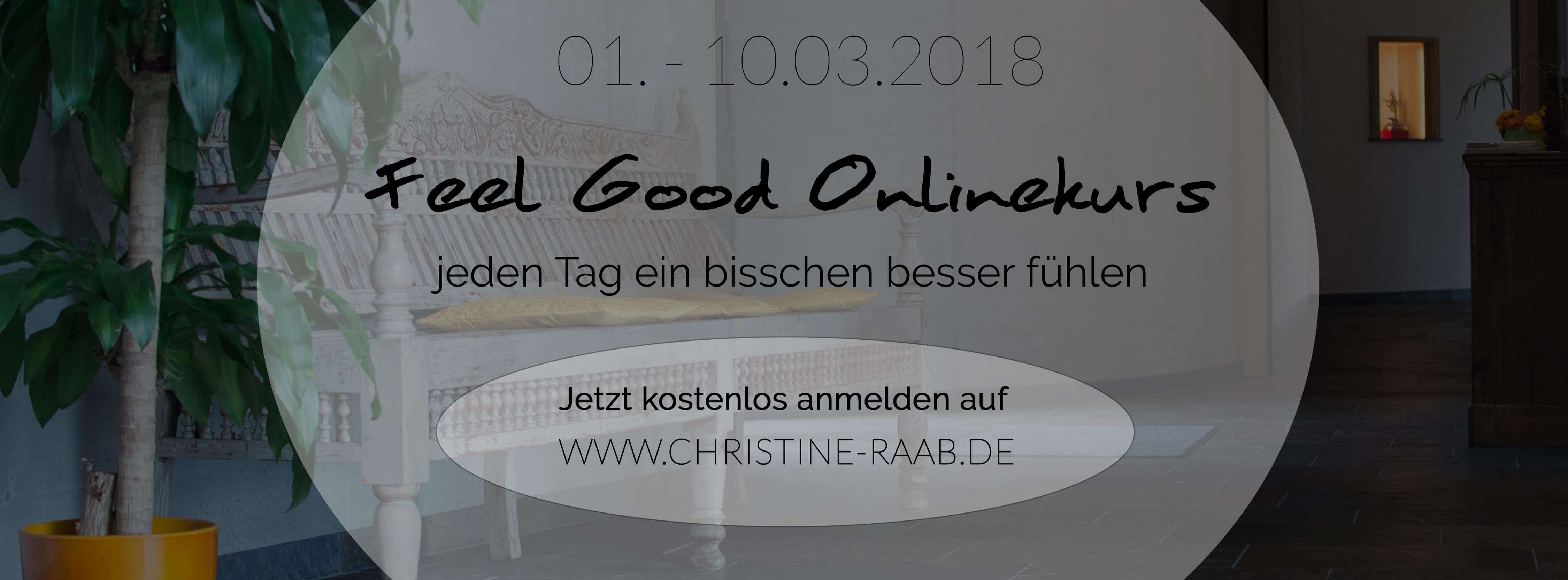 Feel Good Onlinekurs Christine Raab