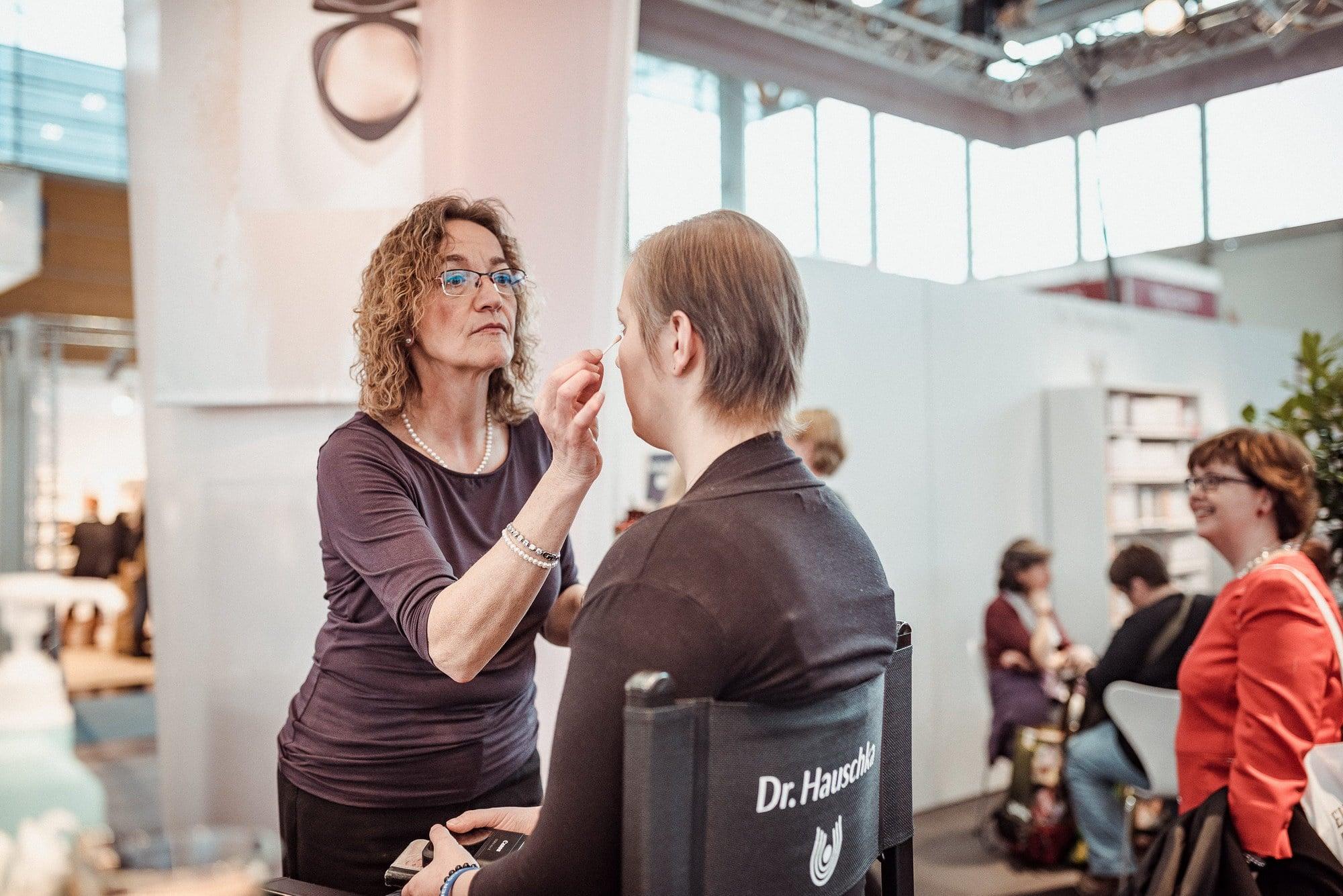 Christine Raab Messe schminken Naturkosmetik
