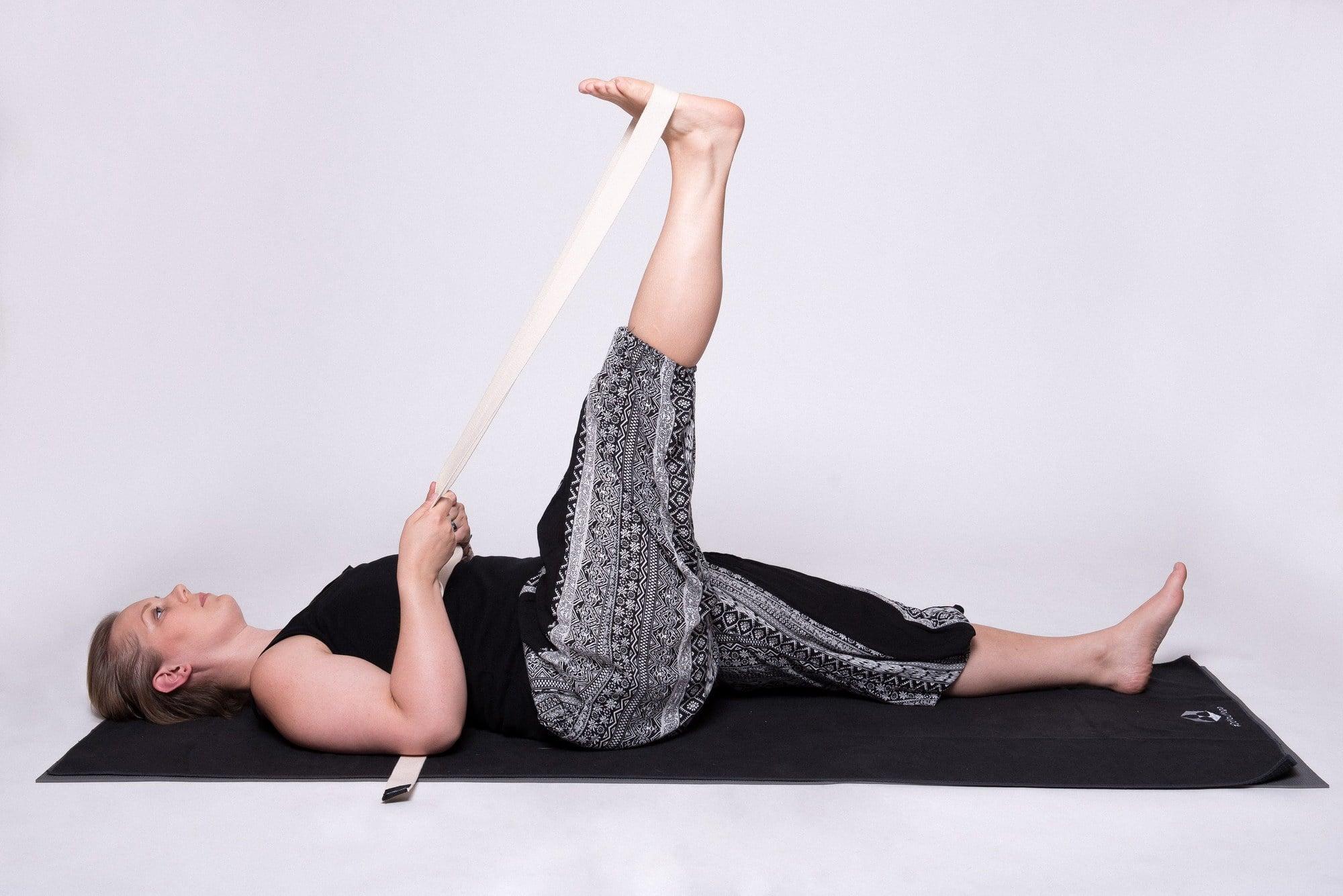Yoga, Gurt, Beindehnung