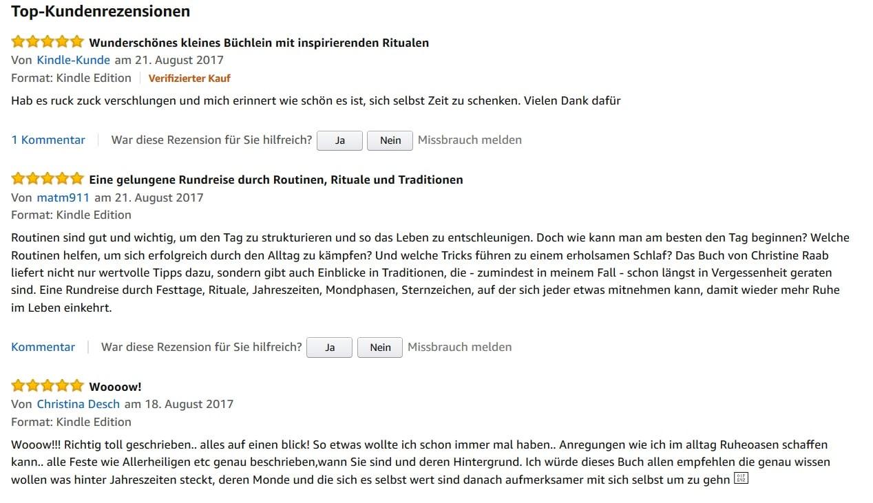 Amazon Rezensionen für das Buch Rituale und Routinen von Christine Raab