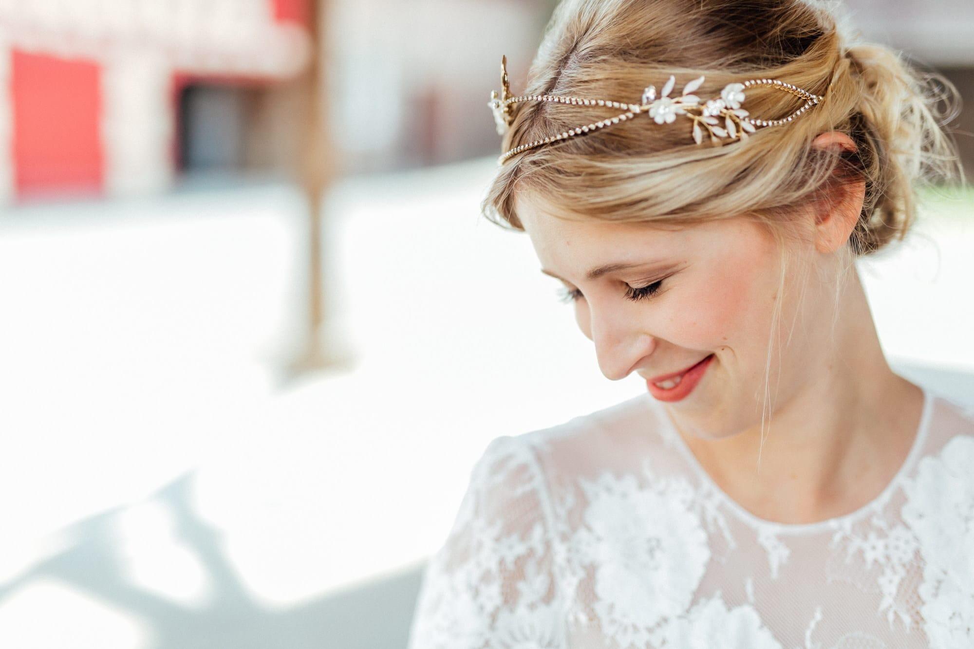 Braut Haarschmuck blond
