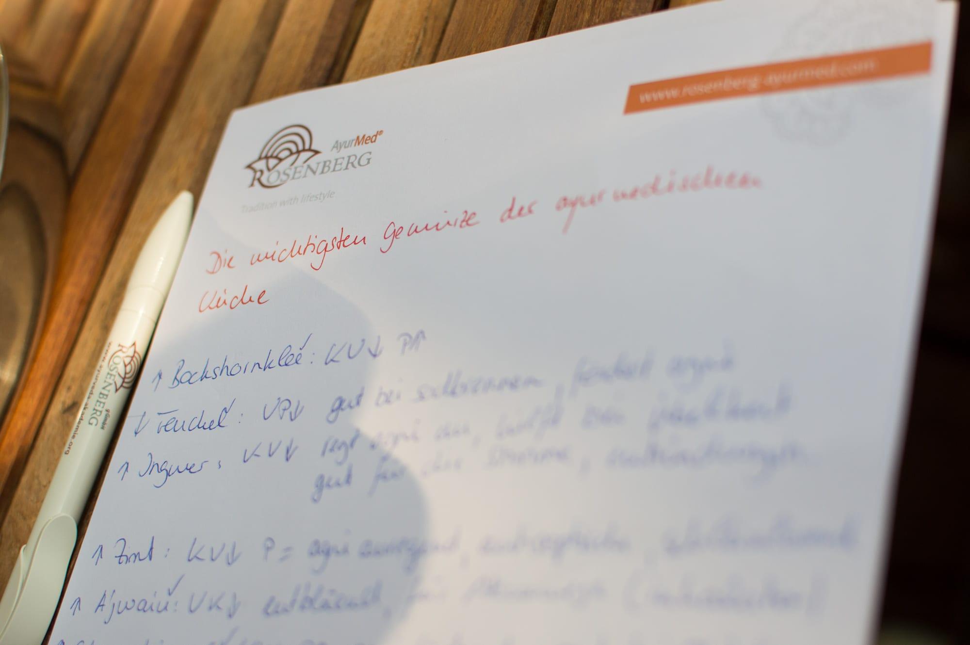 Ayurmed Rosenberg Notiz Notizblock Stift