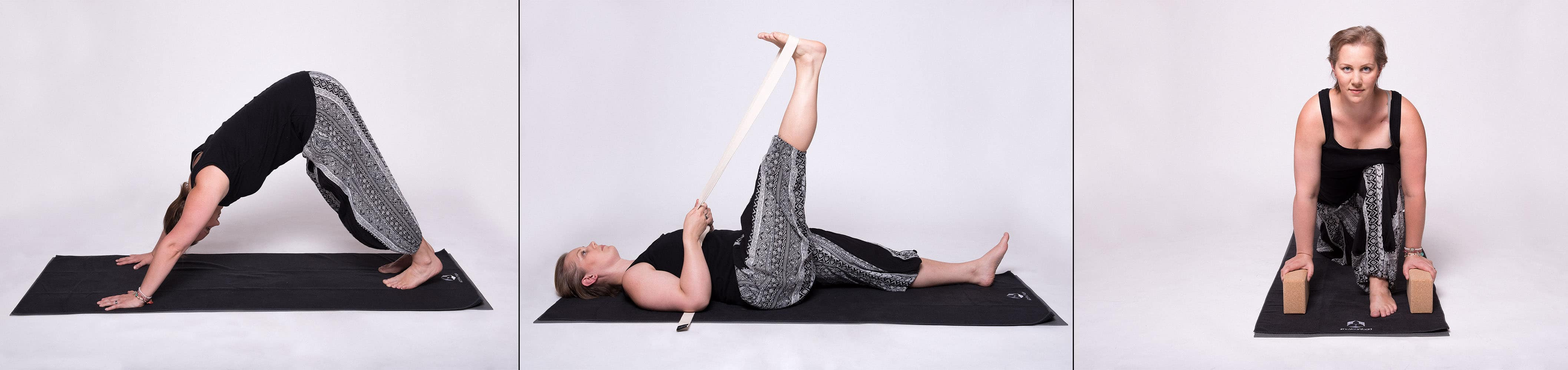 Yoga Übung Yogamatte Band