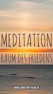 Meditation, Raum des Friedens, Christine Raab
