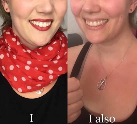 Christine geschminkt und ungeschminkt. Beide Male gilt: I feel pretty!