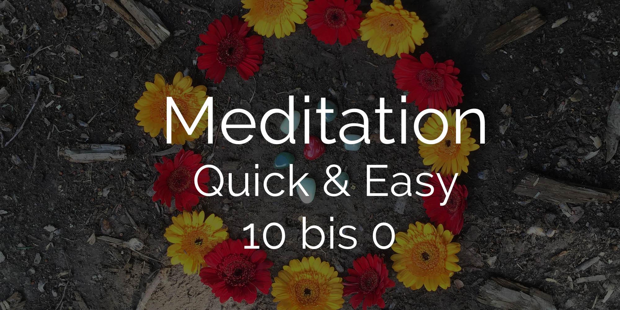 Blumen kranz rot gelb Meditation