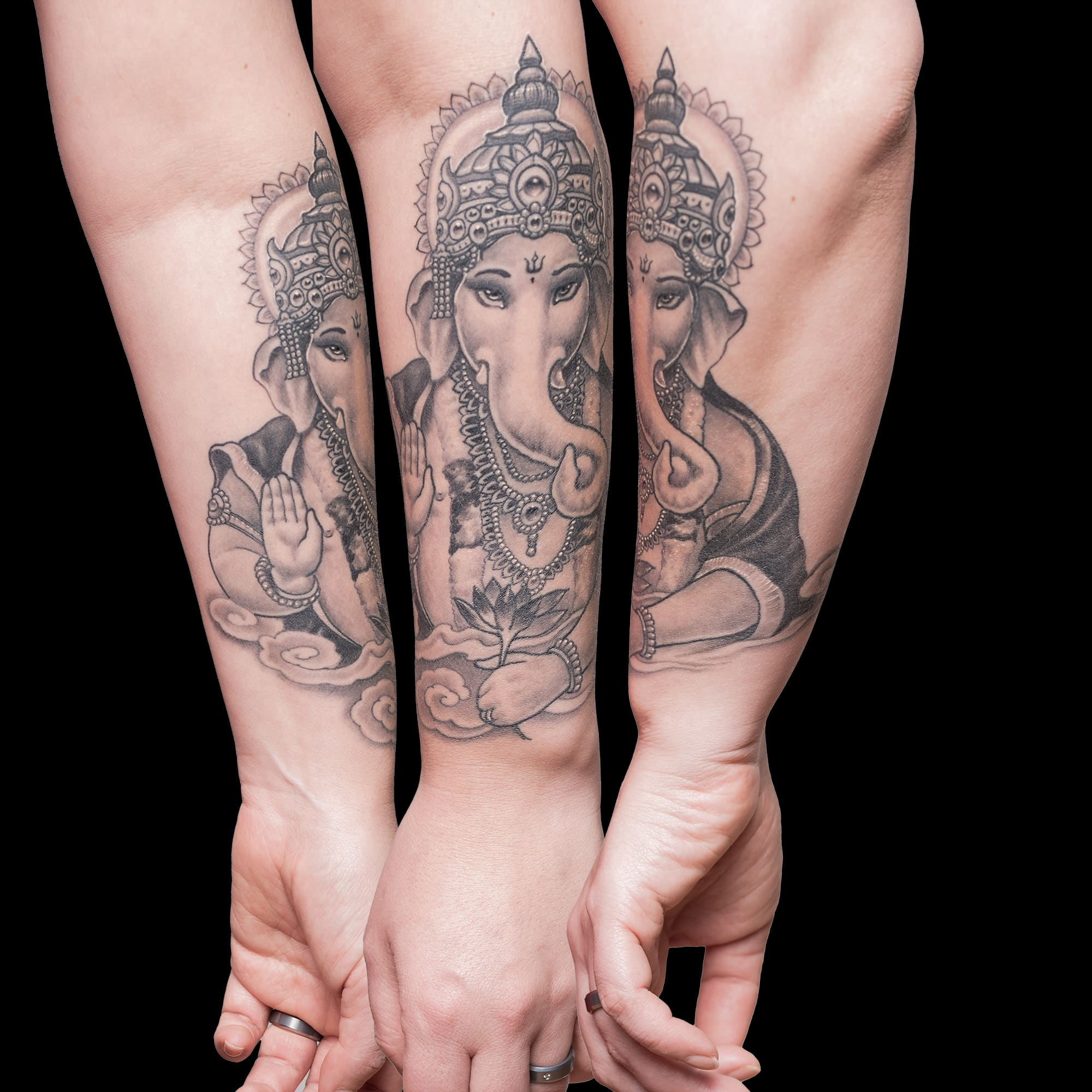 Ganesha Tattoo Christine Raab Thomas Schehr Körperkunst Karlsruhe