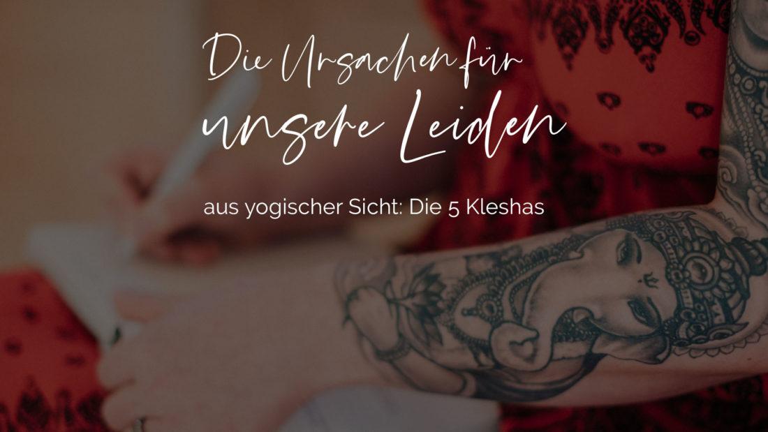 Titelbild für den Blogbeitrag ueber die Kleshas die Ursachen fuer unser Leiden aus yogischer Sicht hier in dem Bezug zu Brustkrebs