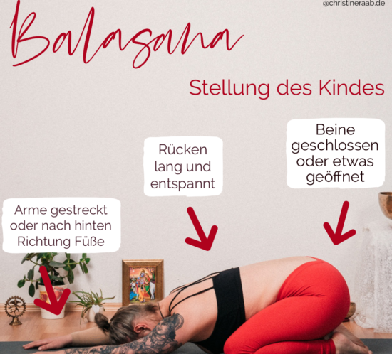 Balasana Kind Childspose Yoga Christine Raab Asana ABC